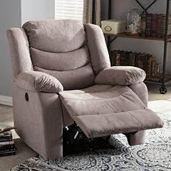 Baxton Studio Lynette Recliner Chair  by