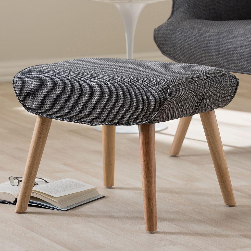 Baxton Studio Nola Upholstered Stool Ottoman