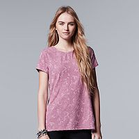 Women's Simply Vera Vera Wang Abstract Jacquard Tee