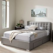 Baxton Studio Rene 4-Drawer Storage Queen Platform Bed