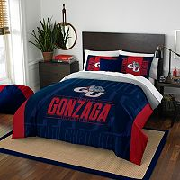 Gonzaga Bulldogs Modern Take Full/Queen Comforter Set by Northwest