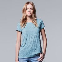 Women's Simply Vera Vera Wang Windy Jacquard Tee