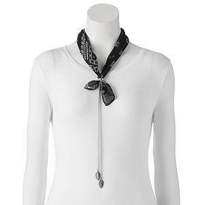 Mudd® Paisley Bandana Necklace Scarf