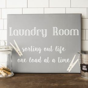 """Cathy's Concepts """"Laundry Room"""" Canvas Wall Art"""