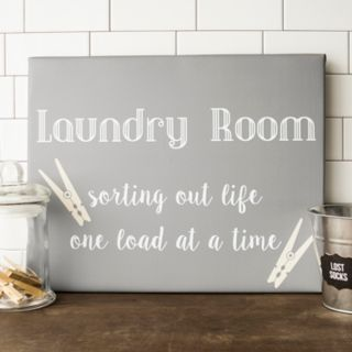 "Cathy's Concepts ""Laundry Room"" Canvas Wall Art"