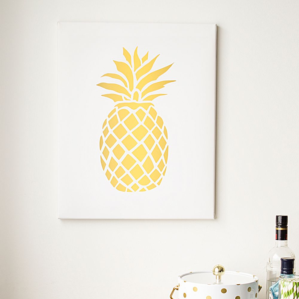 Cathy\'s Concepts Pineapple Canvas Wall Decor