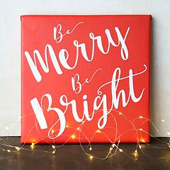 Cathy's Concepts 'Merry & Bright' Canvas Wall Art