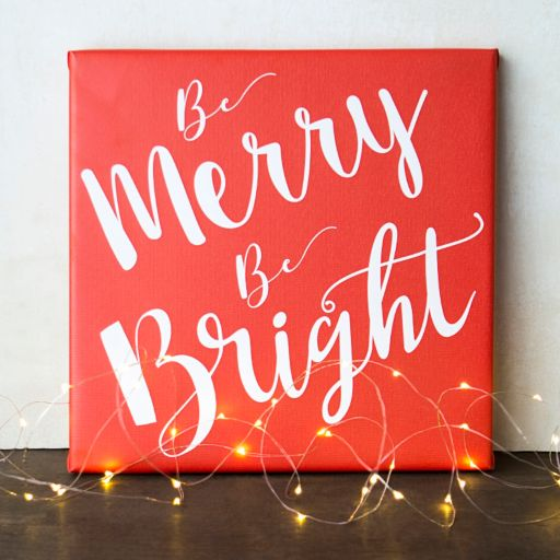 """Cathy's Concepts """"Merry & Bright"""" Canvas Wall Art"""