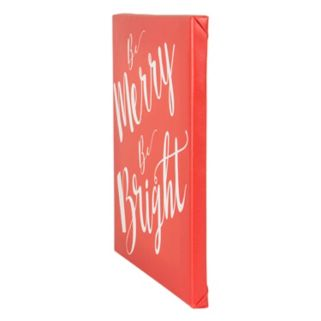 "Cathy's Concepts ""Merry & Bright"" Canvas Wall Art"
