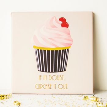 "Cathy's Concepts ""Cupcake It Out"" Canvas Wall Decor"