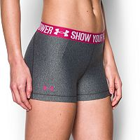 Women's Under Armour Power in Pink HeatGear Armour Shorty Shorts