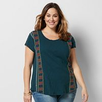 Plus Size SONOMA Goods for Life™ Embroidered Dolman Tee