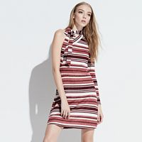 k/lab Striped One-Shoulder Bodycon Dress