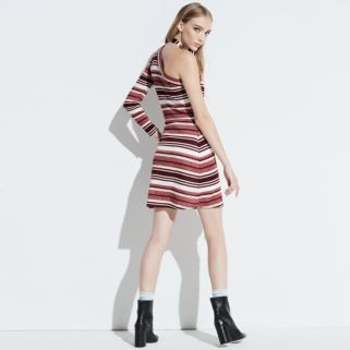 k/lab Striped One-Shoulder Bodycon Dress