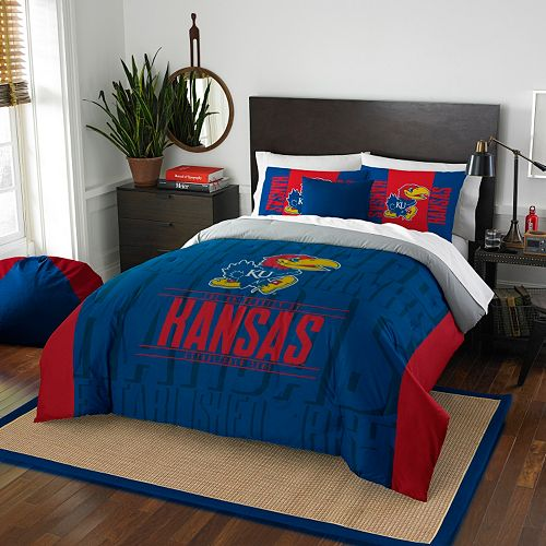 Kansas Jayhawks Modern Take Full/Queen Comforter Set by Northwest