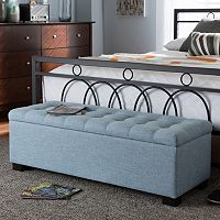 Baxton Studio Roanoke Storage Ottoman Bench