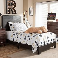 Baxton Studio Ramon Faux Leather Twin Bed