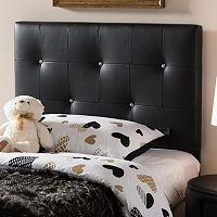 Baxton Studio Kirchem Faux Leather Twin Headboard
