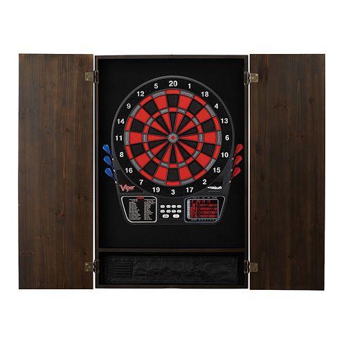 797 Electronic Dartboard & Metropolitan Cabinet Set by Viper
