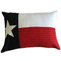 Texas Star Denim & Canvas Oblong Throw Pillow