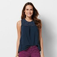 Petite SONOMA Goods for Life™ Split Eyelet Top