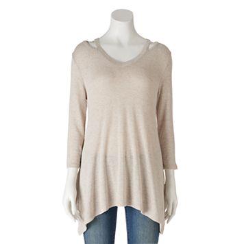 Women's Olivia Sky Cutout V-Neck Sweater