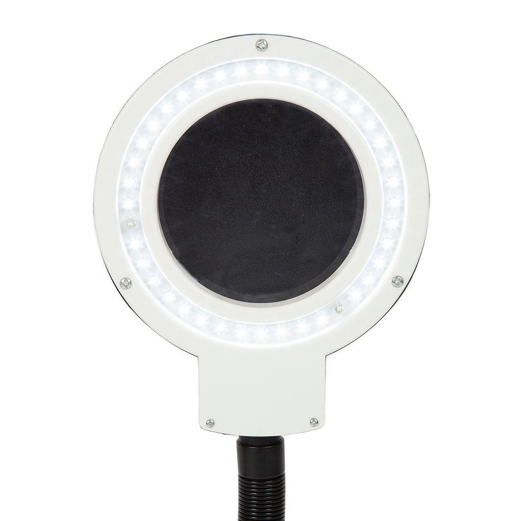 Stalwart 40 LED 5x Gooseneck Desktop Magnifier Lamp