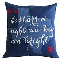 Texas ''The Stars At Night Are Big And Bright'' Throw Pillow