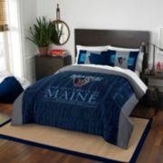 Maine Black Bears Modern Take Full/Queen Comforter Set by Northwest