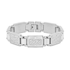 Men's Stainless Steel Woven Link Bracelet