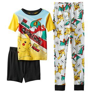 Boys 4-10 Pokemon 3-Piece Pajama Set