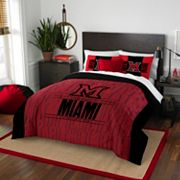Miami RedHawks Modern Take Full/Queen Comforter Set by Northwest