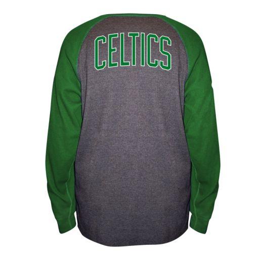 Big & Tall Majestic Boston Celtics Raglan Thermal Tee