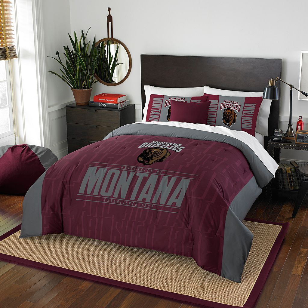 Montana Grizzlies Modern Take Full/Queen Comforter Set by Northwest