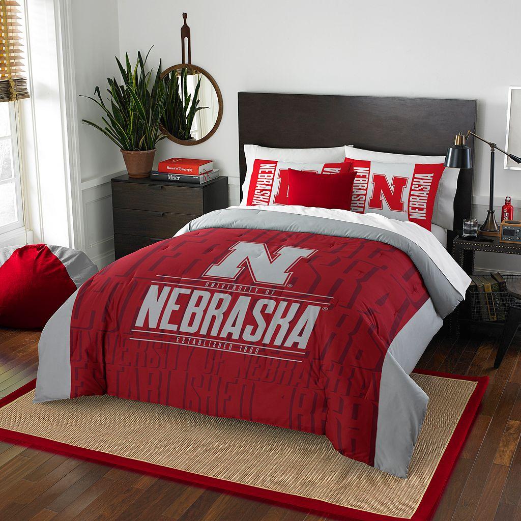 Nebraska Cornhuskers Modern Take Full/Queen Comforter Set by Northwest