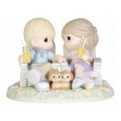 Precious Moments Couple On Beach Chairs Figurine