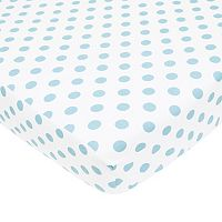 TL Care Polka-Dot Flannel Crib Sheet
