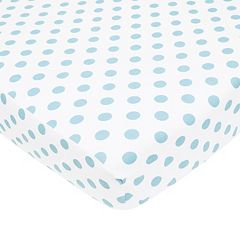 TL Care Polka-Dot Flannel Crib Sheet