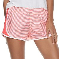 Juniors' SO® Side-Stripe Running Shorts