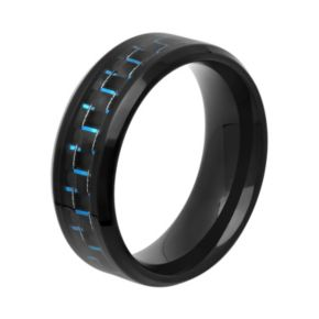 Men's Stainless Steel Woven Wedding Band