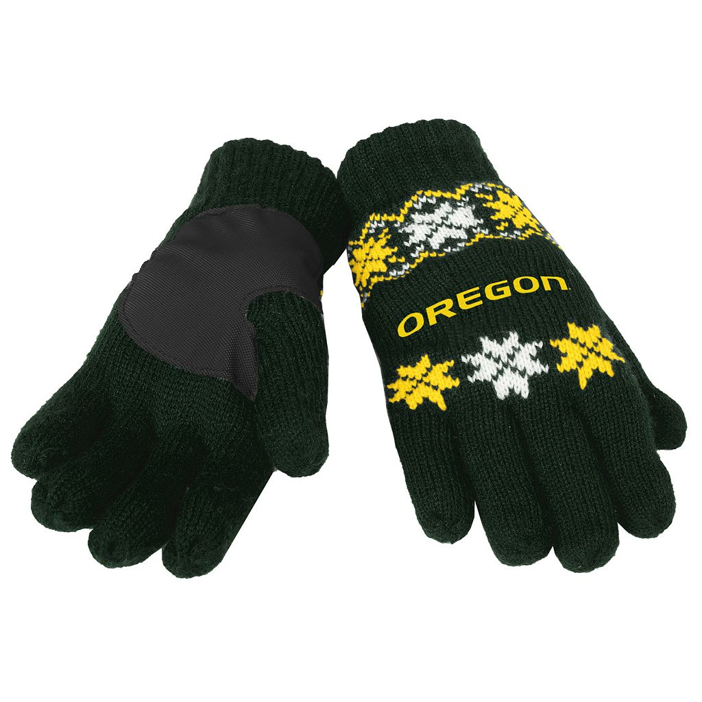 Adult Forever Collectibles Oregon Ducks Lodge Gloves