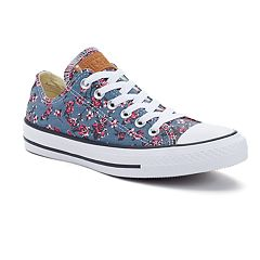 Adult Converse Chuck Taylor All Star Denim Floral Shoes by