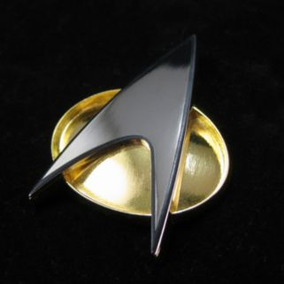 Quantum Mechanix Star Trek: The Next Generation Communicator Badge Replica