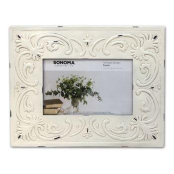 "SONOMA Goods for Life? Farmhouse Embellished Metal 4"" x 6"" Frame"