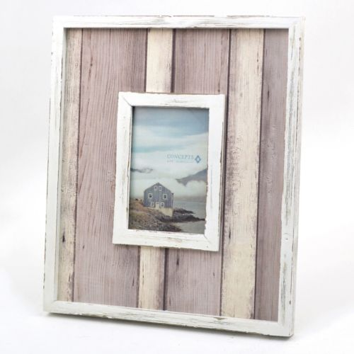 Concepts In Time White Distressed Frame