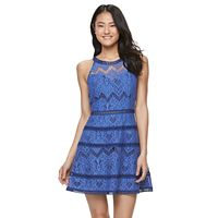 Juniors' Up by ultra pink Crochet A-Line Dress