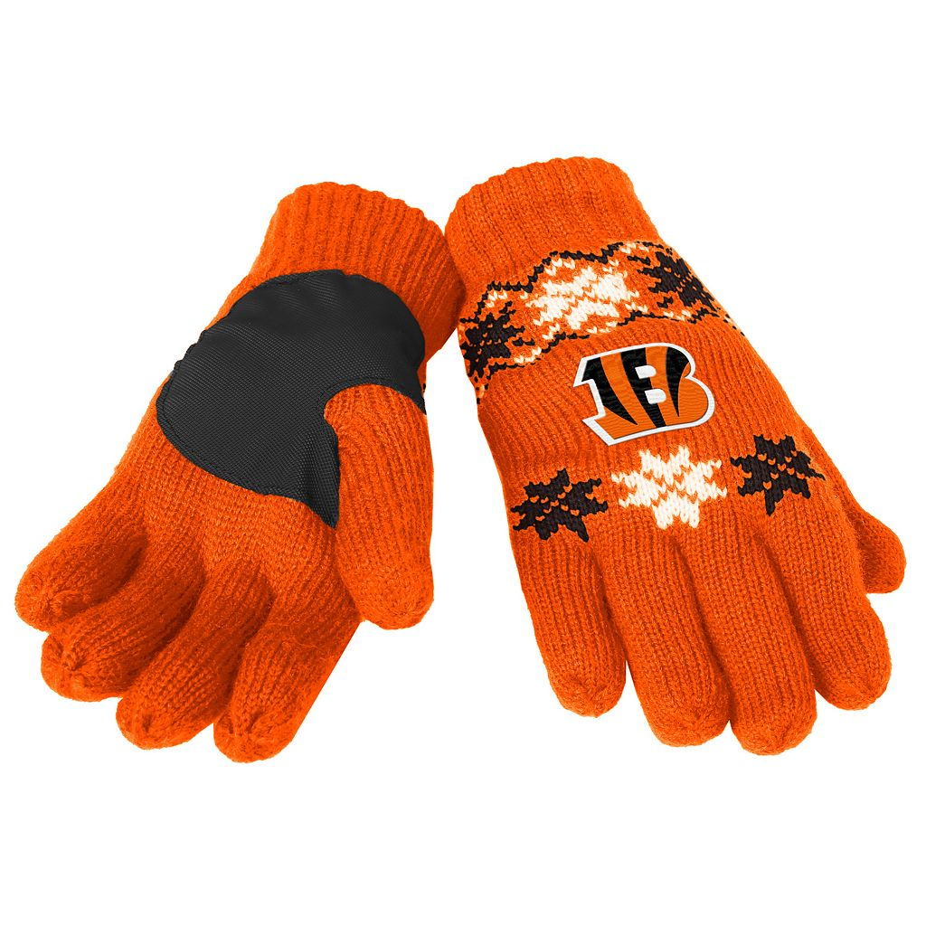 Adult Forever Collectibles Cincinnati Bengals Lodge Gloves
