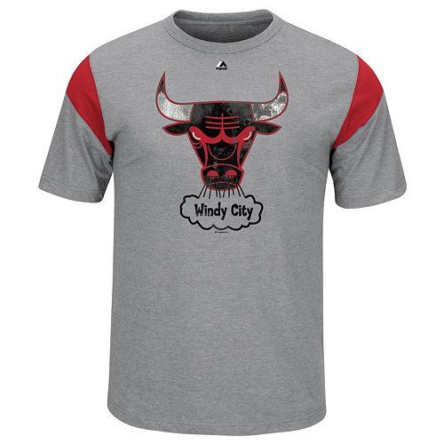 Big & Tall Majestic Chicago Bulls Team Tee