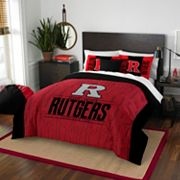 Rutgers Scarlet Knights Modern Take Full/Queen Comforter Set by Northwest
