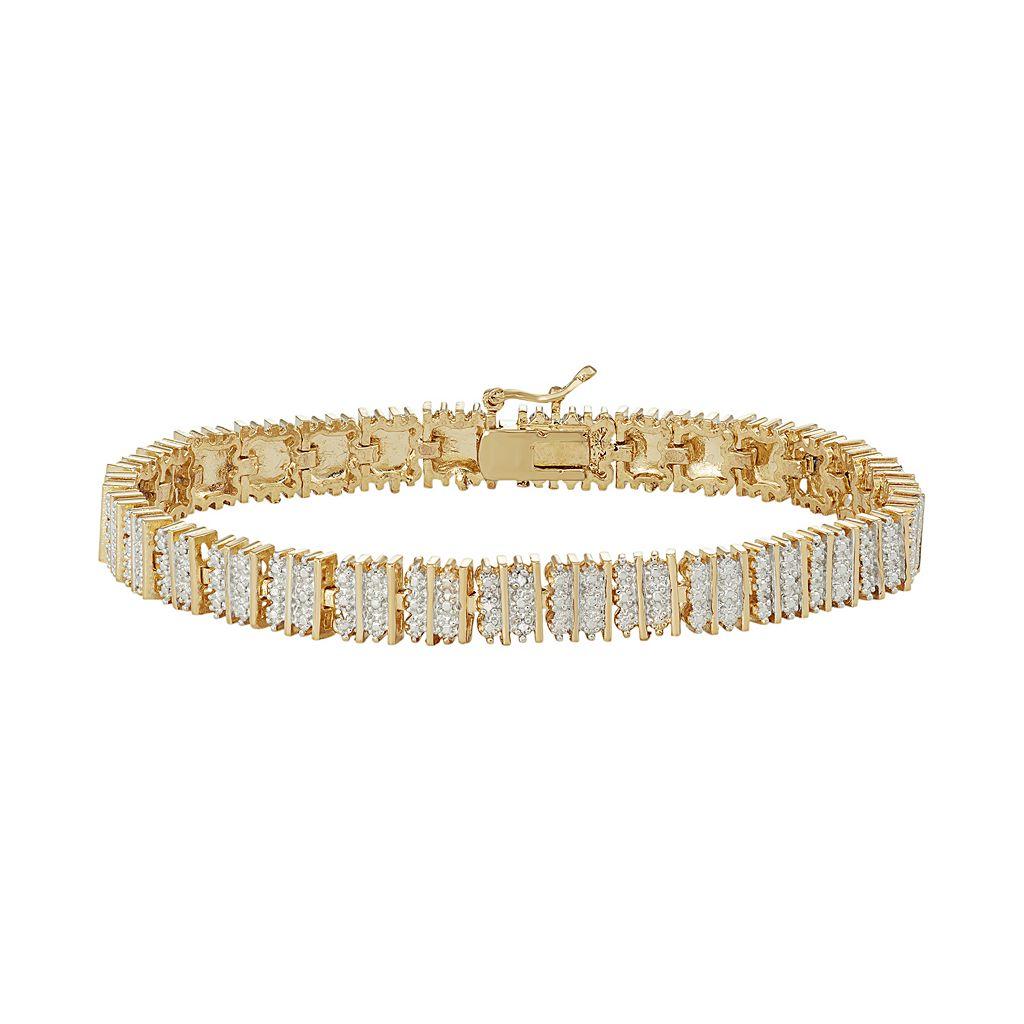 14k Gold Plated Diamond Accent Bracelet